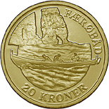 20 krone coin The Faroese boat | Denmark 2009