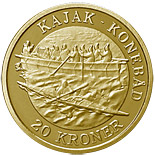 20 kroner Kayak Umiak - Women's boat - 2010 - Series: Ship coins - Denmark