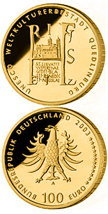100 euro coin UNESCO Welterbe Quedlinburg | Germany 2003