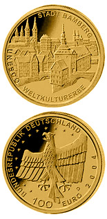 100 euro coin UNESCO Welterbe Bamberg  | Germany 2004