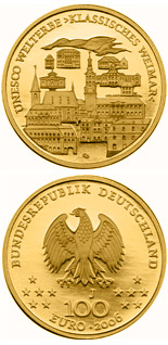100 euro coin UNESCO Welterbe Weimar  | Germany 2006