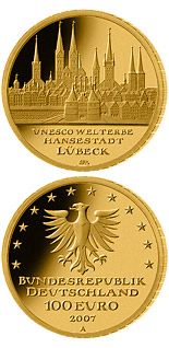 100 euro coin UNESCO Welterbe Lübeck | Germany 2007