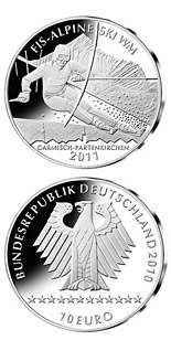 10 euro coin Alpine Ski-WM 2011 | Germany 2010