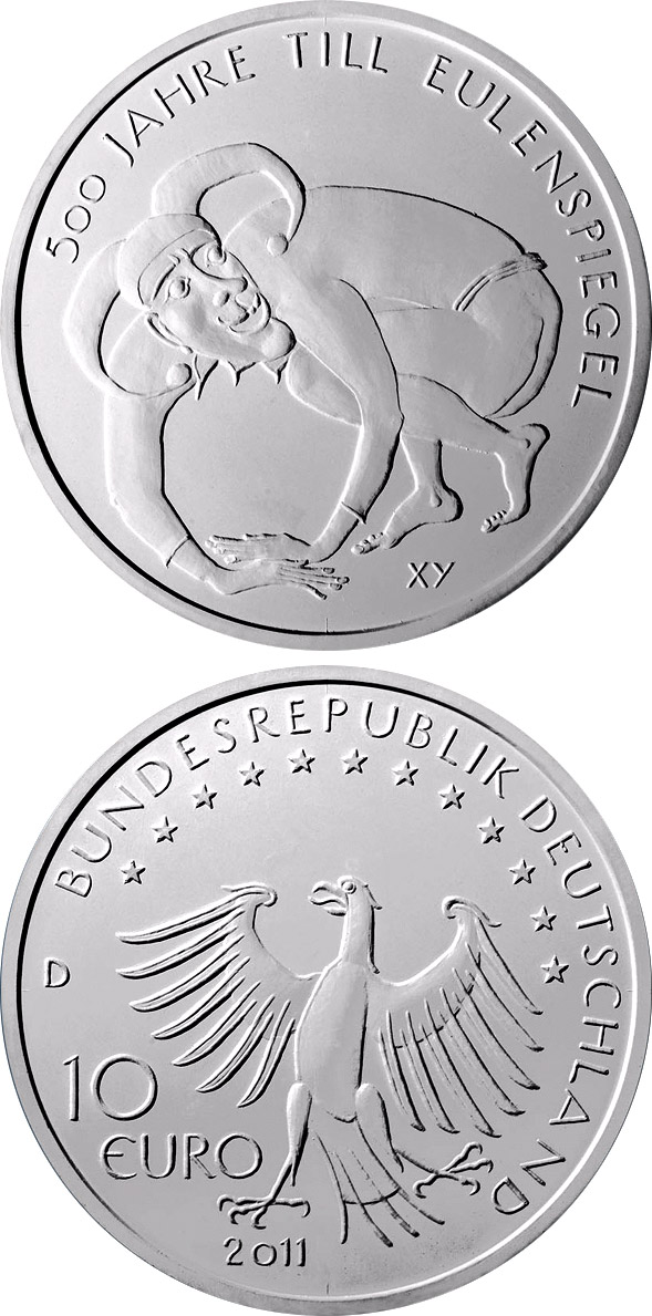10 euro 500 Jahre Till Eulenspiegel - 2011 - Series: Silver 10 euro coins - Germany