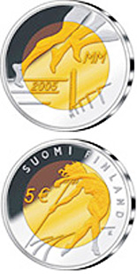5 euro 10th IAAF World Championships in Athletics - 2005 - Series: Commemorative 5 euro coins - Finland