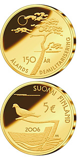 5 euro coin 150th Anniversary of Demilitarisation of Åland Islands | Finland 2006