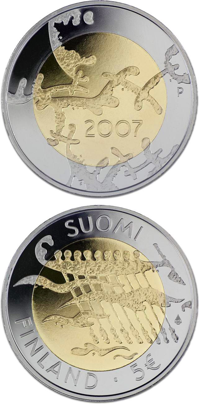 5 euro 90th Anniversary of Finland's Declaration of Independence - 2007 - Series: Commemorative 5 euro coins - Finland