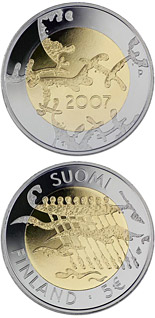 5 euro coin 90th Anniversary of Finland's Declaration of Independence | Finland 2007