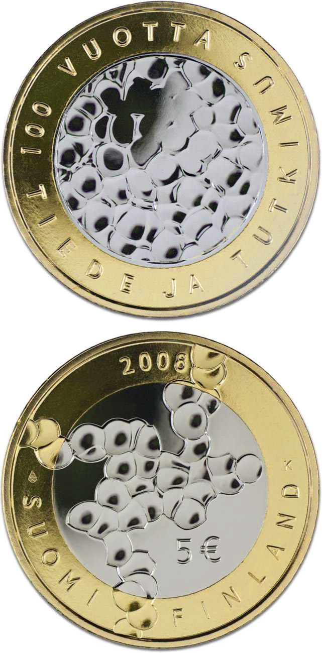 5 euro Science and Research - 2008 - Series: Commemorative 5 euro coins - Finland