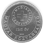 50 forint coin 125th anniversary of the foundation of the Hungarian Red Cross | Hungary 2006