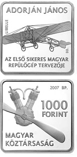 1000 forint 125th anniversary of the birth of the mechanical engineer János Adorján - 2007 - Series: Commemorative 1000 forint coins - Hungary