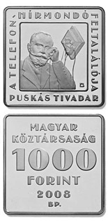 1000 forint coin 115th Anniversary of the Telephone Newspaper | Hungary 2008