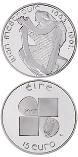 15 euro Ivan Meštrović's design - 2007 - Series: Irish others commmorative coins - Ireland