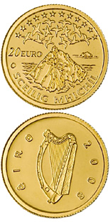 20 euro UNESCO Heritage Site of Skellig Michael - 2008 - Series: Gold 20 euro coins - Ireland