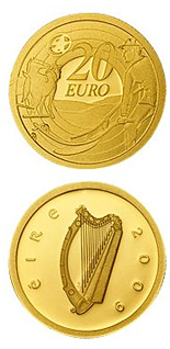20 euro 80th Anniversary of Ploughman´s Banknotes Launch - 2009 - Series: Gold 20 euro coins - Ireland