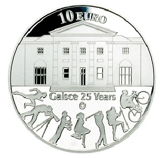 10 euro 25th anniversary of Gaisce/The President's Award - 2010 - Series: Silver 10 euro coins - Ireland