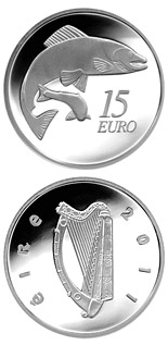 15 euro coin The Salmon | Ireland 2011