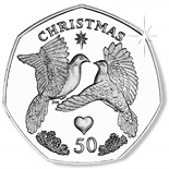 50 pence coin Two Turtle Doves | Isle of Man 2006