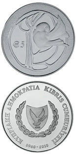 5 euro 50th anniversary of the Republic of Cyprus - 2010 - Series: Silver 5 euro coins - Cyprus