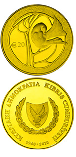 20 euro coin 50th anniversary of the Republic of Cyprus | Cyprus 2010