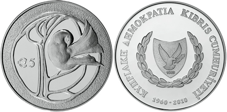Silver 5 Euro Coins The 5 Euro Coin Series From Cyprus