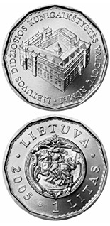 1 litas 150th anniversary of the National Museum of Lithuania  - 2005 - Series: Circulation commemorative 1 litas - Lithuania