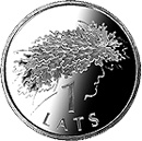 Image of a coin 1 lats | Latvia | Ligo Wreath | 2006