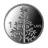 Image of a coin 1 lats | Latvia | Namejs ring | 2009