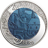 5 euro coin Castle of Esch-Sur-Sure | Luxembourg 2010