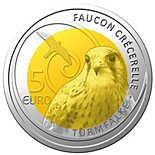 5 euro Common Kestrel - 2009 - Series: Fauna and Flora in Luxembourg - Luxembourg