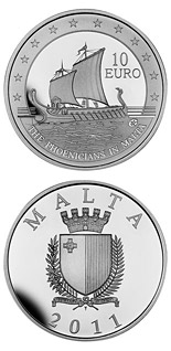 10 euro coin The Phoenicians in Malta | Malta 2011