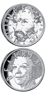 Image of 5 euro coin - 150th birthday of Vincent van Gogh  | Netherlands 2003.  The Silver coin is of Proof, UNC quality.