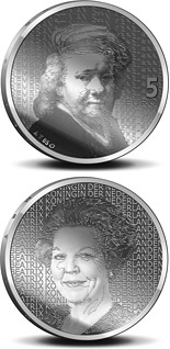 Image of a coin 5 euro | Netherlands | 400. birthday of Rembrandt Harmenszoon van Rijn  | 2006
