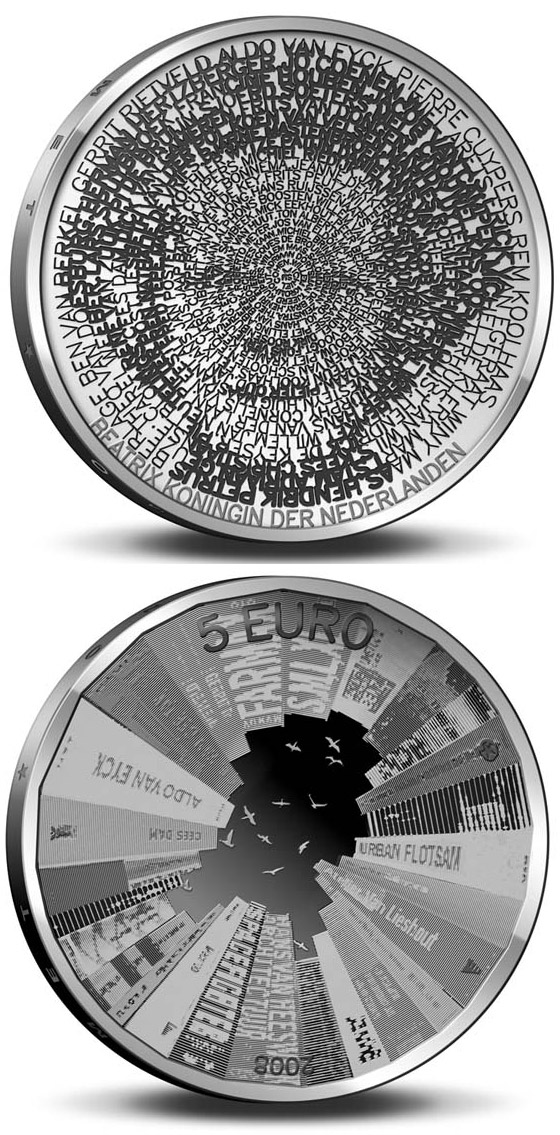 5 euro Architecture in Netherlands  - 2008 - Series: Silver 5 euro coins - Netherlands