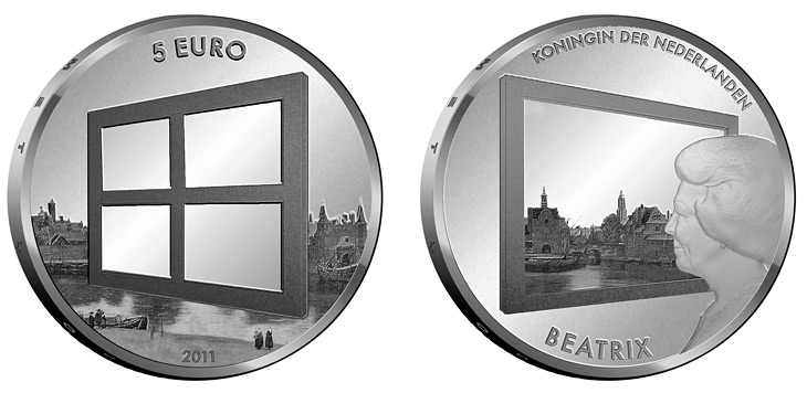 5 euro Dutch Painting - 2011 - Series: Silver 5 euro coins - Netherlands