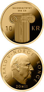 10 krone 200th anniversary of the founding of Norway's first university - 2011 - Series: Circulation commemorative coins - Norway