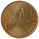 20 krone 700th Anniversary - Akershus Fortress - 1999 - Series: Circulation commemorative coins - Norway
