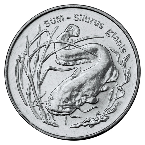 2 zloty Wels catfish - 1995 - Series: Animals of the World  - Poland