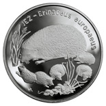 Image of 20 zloty coin - European Hedgehog | Poland 1996.  The Silver coin is of Proof quality.