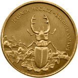 Image of 2 zloty coin - Lucanus cervus | Poland 1997.  The Nordic gold (CuZnAl) coin is of UNC quality.