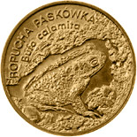 Image of 2 zloty coin - Natterjack Toad | Poland 1998.  The Nordic gold (CuZnAl) coin is of UNC quality.