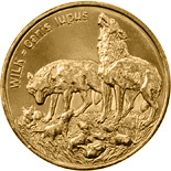 Image of 2 zloty coin - Wolf | Poland 1999.  The Nordic gold (CuZnAl) coin is of UNC quality.
