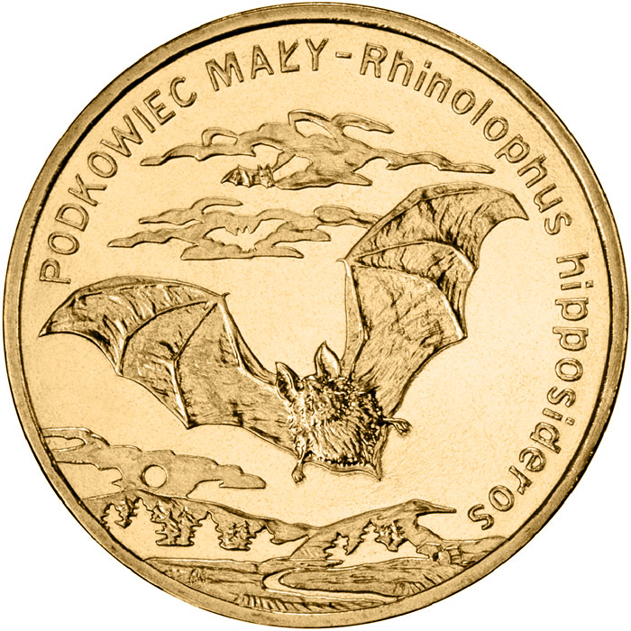 2 zloty Lesser horseshoe bat - 2010 - Series: Animals of the World  - Poland