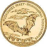 2 zloty Lesser horseshoe bat - 2010 - Series: Commemorative 2 zloty coins - Poland