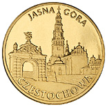Image of Częstochowa – 2 zloty coin Poland 2009.  The Nordic gold (CuZnAl) coin is of UNC quality.