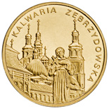 Image of 2 zloty coin - Kalwaria | Poland 2010.  The Nordic gold (CuZnAl) coin is of UNC quality.
