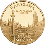 Image of 2 zloty coin – Stare Miasto w Warszawie | Poland 2010.  The Nordic gold (CuZnAl) coin is of UNC quality.