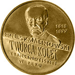 2 zloty coin Centenary of the death of Ernest Malinowski (1818 - 1899) | Poland 1999