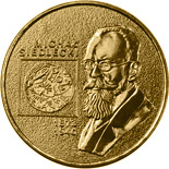 Image of 2 zloty coin – Michał Siedlecki (1873-1940) | Poland 2001.  The Nordic gold (CuZnAl) coin is of UNC quality.