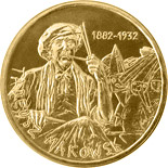 Image of 2 zloty coin Tadeusz Makowski (1882 - 1932) | Poland 2005.  The Nordic gold (CuZnAl) coin is of UNC quality.